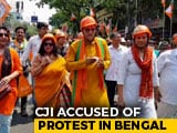 "Video : In Kolkata, BJP's Helmet Rally To Protest Against ""Terror"""