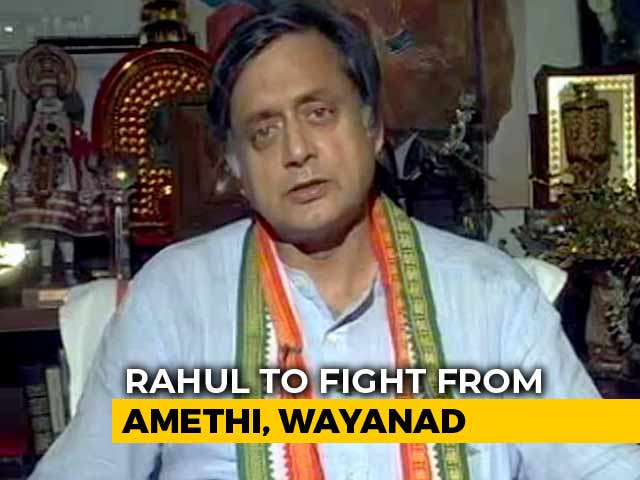 Video : Kerala Seat Shows Rahul Gandhi's Strength Over PM Modi: Shashi Tharoor