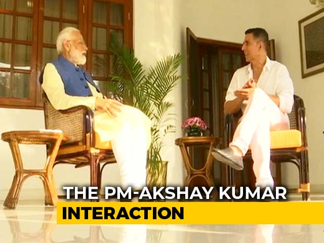 Video : PM Modi Talks To Akshay Kumar On Family, Work, Style, Anger Management