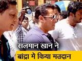 Video : सलमान खान के साथ कई सितारों ने किया मतदान