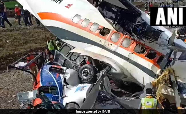 3 Killed As Plane Hits Two Helicopters While Taking Off In Nepal