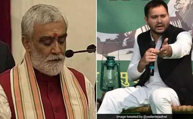 तनिक माथा ठंडा रखिए चौबे जी, नहीं तो माइंडवा ब्लास्ट हो जाएगा: अधिकारी को फटकारने वाले BJP मंत्री को तेजस्वी की सलाह