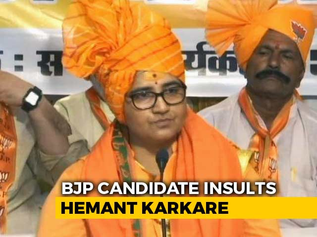 "Video : Had ""Cursed"" Hemant Karkare, Brags Sadhvi Pragya, Claps From BJP"
