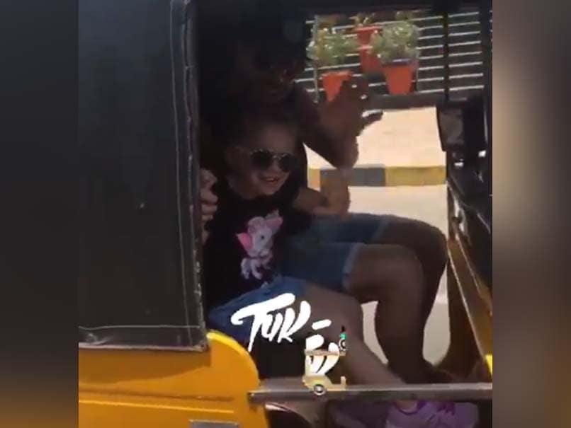 David Warner Enjoys Tuk-Tuk Ride With Daughter Ivy Mae In Hyderabad - Watch