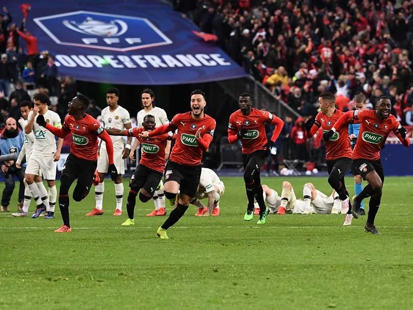 Kylian Mbappe Sent Off As PSG Lose French Cup Final To Rennes