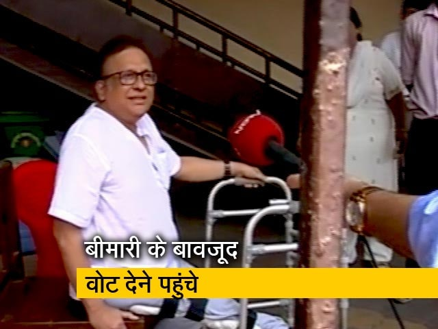 Videos : बीमारी भी नहीं डिगा सकी मतदाताओं का हौसला