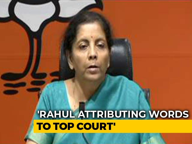 "Video : ""Contempt Of Court"" BJP's Fresh Accusation Against Rahul Gandhi On Rafale"