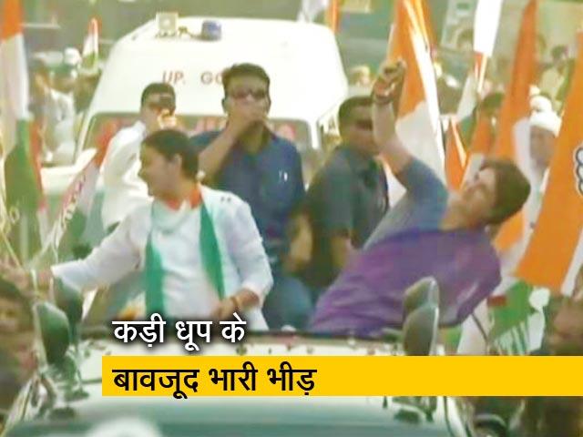 Video : गाजियाबाद में प्रियंका गांधी वाड्रा का रोड शो