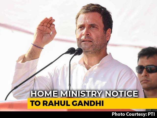 Video : Centre's Notice To Rahul Gandhi Over Complaint About Foreign Citizenship