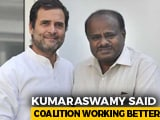 "Video : Alliance ""Working Better"" After Rout, HD Kumaraswamy Assures Rahul Gandhi"