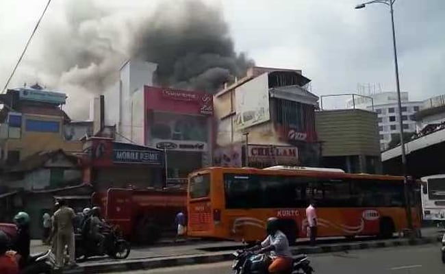 Fire At Commercial Building In Thiruvananthapuram, No Casualties