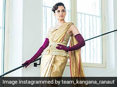 Cannes 2019: Kangana Ranaut In Fusion <i>Saree</i> Shows Bold Is Gold