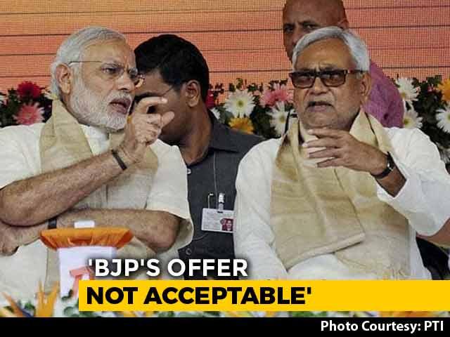 Nitish Kumar Turns Down BJP Offer For One Spot In Cabinet