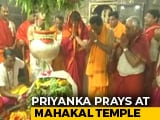 Video : Priyanka Gandhi Prays At Famous Ujjain Temple Before Last Phase Of Voting