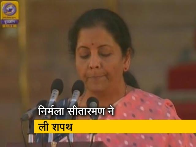 Nirmala Sitharaman Takes Oath As Cabinet Minister