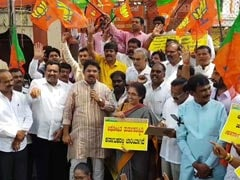 Lingayat Letter Controversy: BJP Leaders Stage Protest Against Karnataka Minister In Lingayat Letter Row