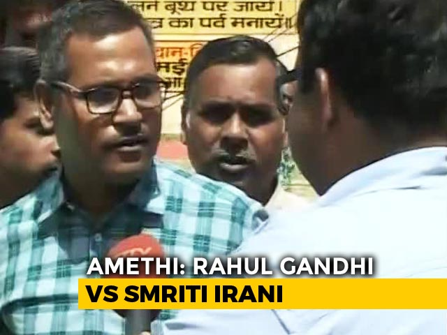 Video : It's Rahul Gandhi vs Smriti Irani In Amethi As Congress Stronghold Goes To Polls