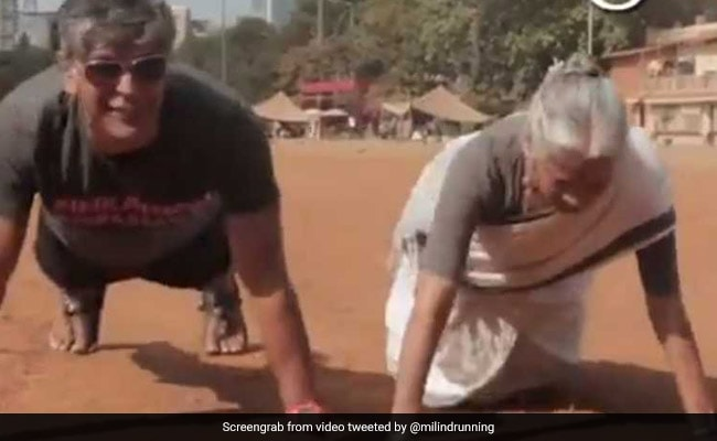 Watch: On Mother's Day, Milind Soman's 80-Year-Old Mother Does 16 Push-Ups