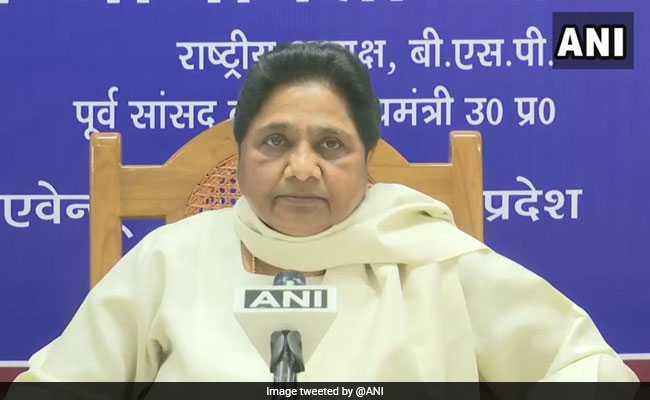 "Mayawati Targets BJP ""Double-Engine"" Government After NITI Aayog Health Report"