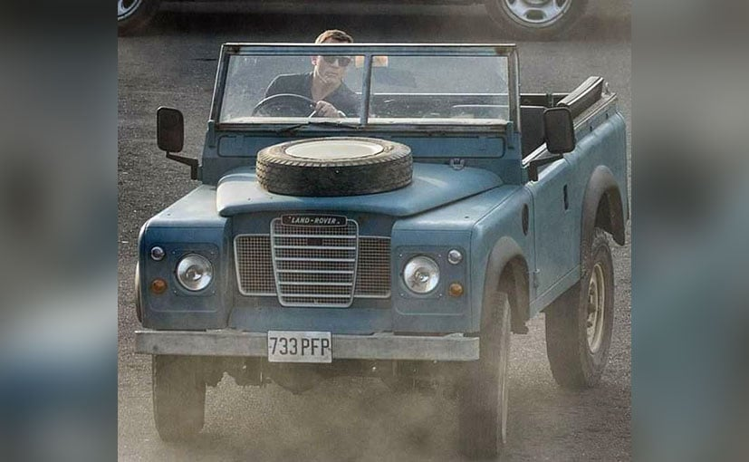 Actor Daniel Craig driving the Land Rover Series III | Pic Credit: Bond25production on Instagram