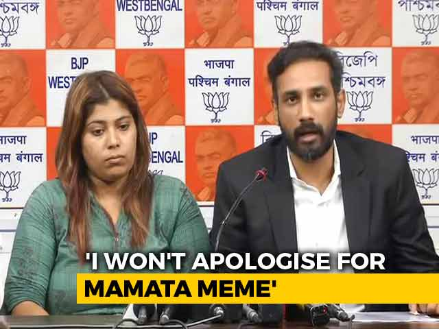"Video : ""Tortured In Jail,"" Alleges BJP Activist Who Shared Mamata Banerjee Meme"