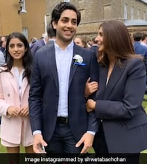Inside Shweta Bachchan's Son Agastya's Graduation Ceremony With Navya