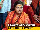 Video : Under Pressure, BJP's Pragya Thakur Tweets Apology For Godse Remarks