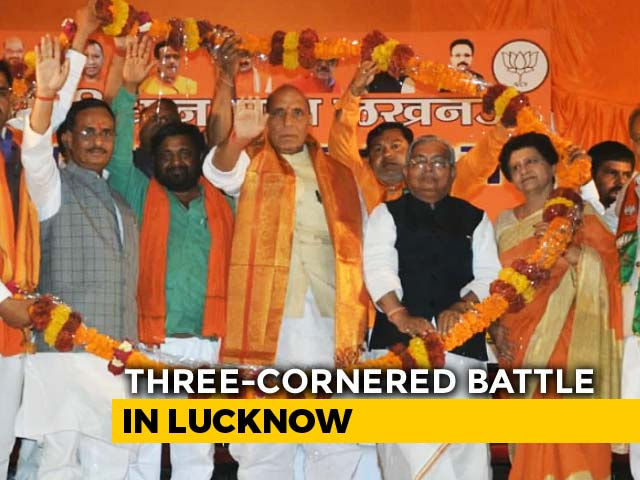 Video : Three Cornered Fight In Lucknow, But Is Rajnath Singh In Pole Position?