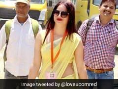 'पीली साड़ी वाली महिला' का नया वीडियो हुआ वायरल, सपना चौधरी के गाने पर मचाया धमाल, देखें VIDEO