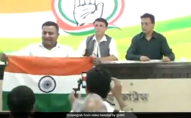 Man Disrupts Congress Presser Over Use Of Yogi Adityanath's Real Name