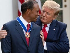 Donald Trump Awards Presidential Medal Of Freedom To Tiger Woods