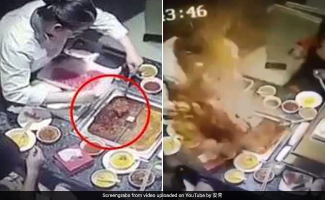 Boiling Soup Explodes In Woman's Face In Horrifying Video