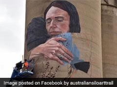 Giant Mural Of New Zealand's Prime Minister Unveiled In Australia