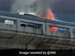 Car Catches Fire On Surat Flyover, No Casualties Reported