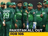 Video: Cricket World Cup 2019: Pakistan Bowled Out For 105 Against West Indies