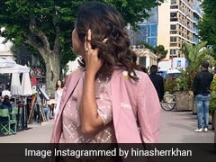 Cannes 2019: Hina Khan Paints The French Riviera Pink