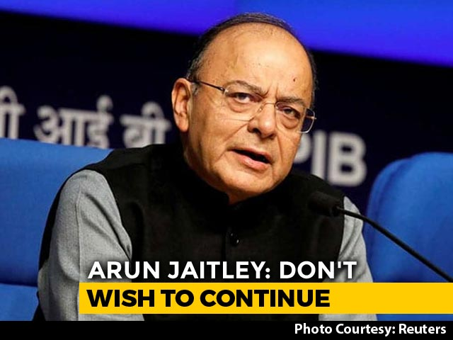 Video : Can't Be In Government For Health Reasons, Arun Jaitley Writes To PM Modi