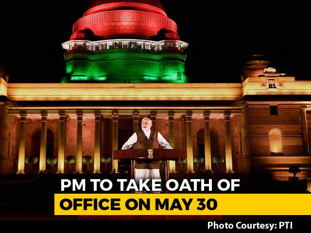 PM Modi To Take Oath On Thursday At 7 pm