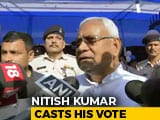 Video : Bihar Chief Minister Nitish Kumar Votes, Has A Suggestion For Poll Body