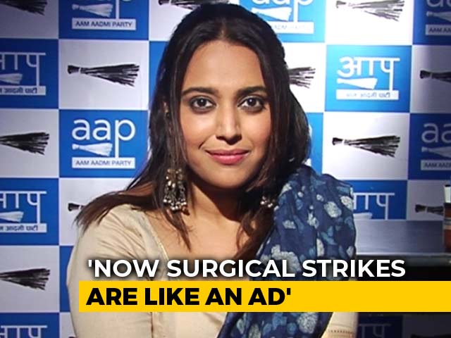 Video : BJP Made Surgical Strikes An Ad Campaign, Says Swara Bhasker