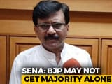 "Video : ""BJP Will Fall Short Of Majority"": Sena's Sanjay Raut Echoes Ram Madhav"
