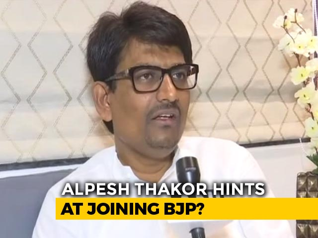 Video : 'Chemical <i>Locha</i> In Their Minds': Alpesh Thakor, Ex-Congress, Slams Party