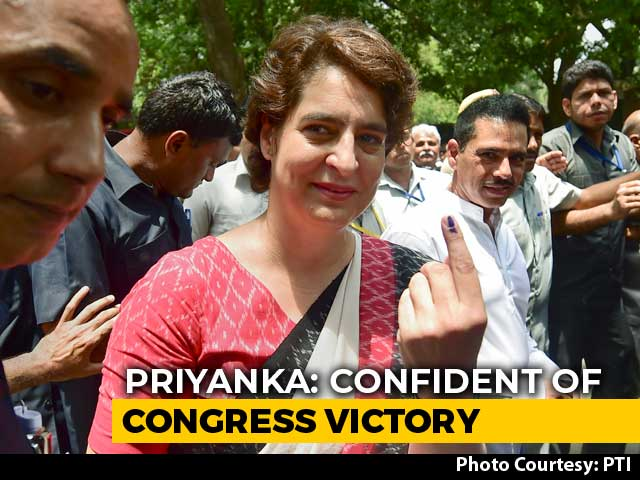 Video : BJP Government Is On Its Way Out: Priyanka Gandhi After Voting In Delhi