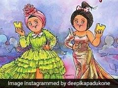 Ranveer Singh Toasts To Deepika Padukone, Aishwarya Rai Bachchan's Cannes-Special Amul Comic