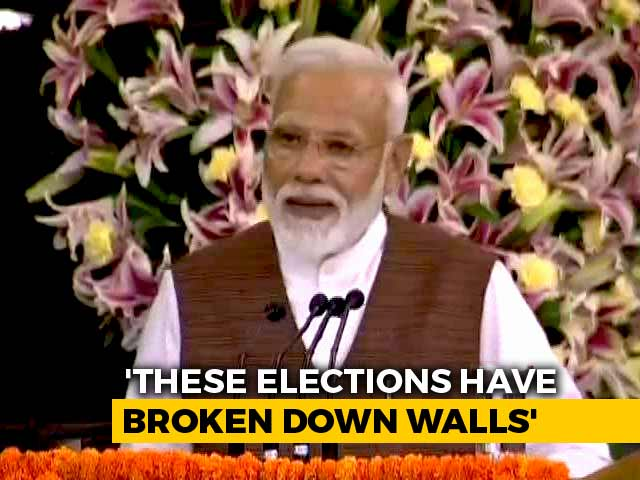"Video : ""2019 Elections Have Helped Break Walls, Connect Hearts,"" Says PM Modi"