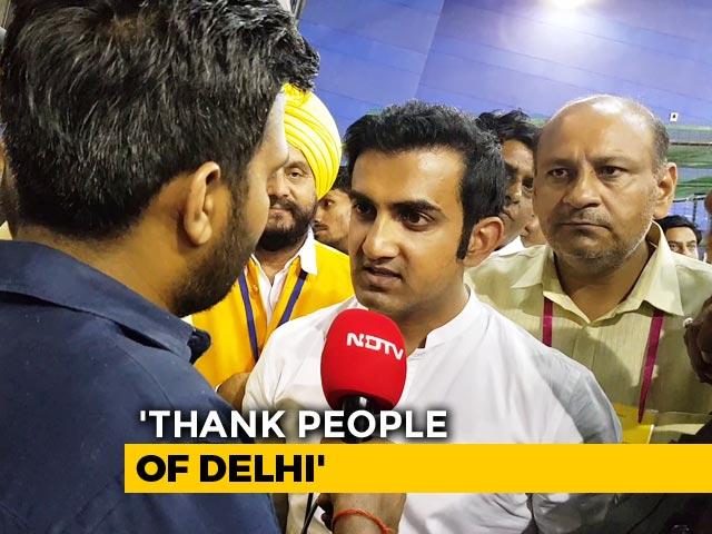 Video : After Big Election Win In Delhi, Gautam Gambhir's Warning To Arvind Kejriwal