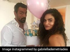 Such Lovely Pics From Arjun Rampal's Girlfriend Gabriella Demetriades' Baby Shower