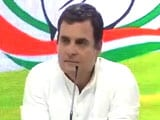 "Video : Rahul Gandhi Concedes Defeat In Amethi, Says ""<i>Janata Maalik Hai</i>"""