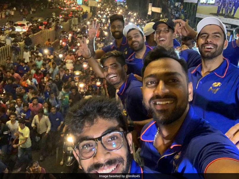 Mumbai Indians Set Out For Champions Parade Amid Heavy Fanfare