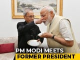 "Video : PM Tweets Photos Of Meeting With ""Statesman"" Pranab Mukherjee"